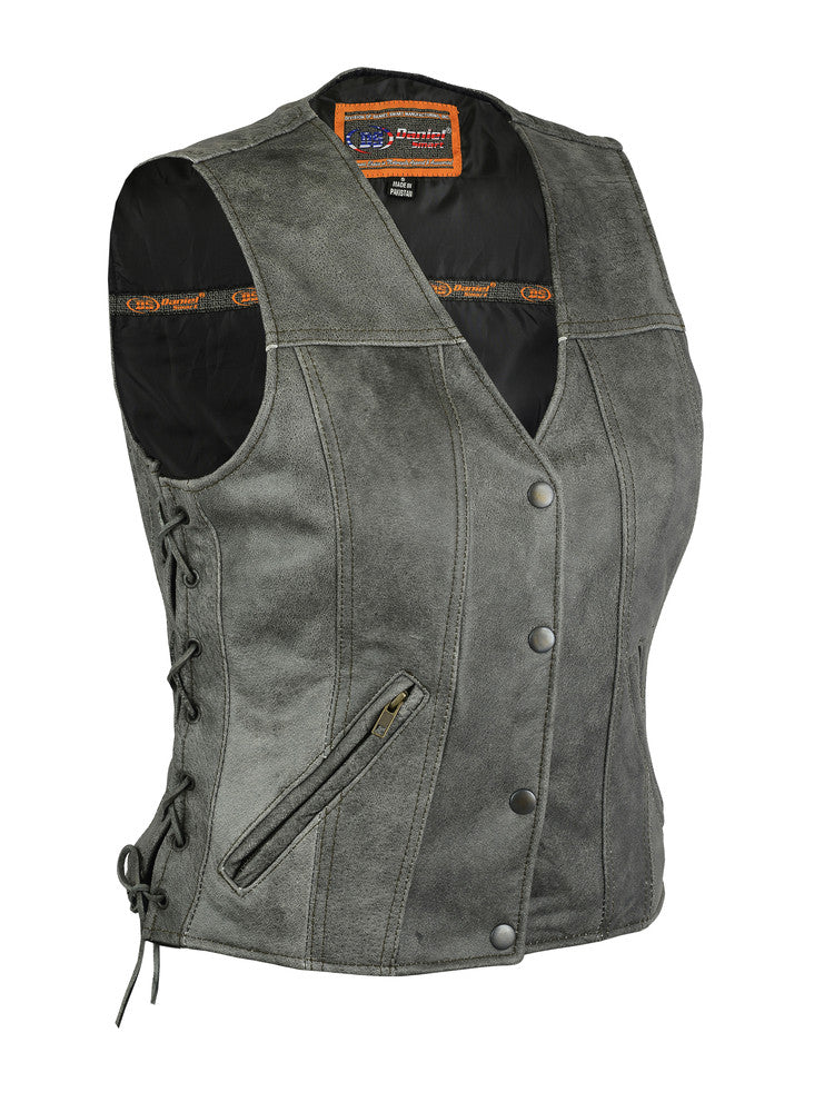 Women's Gray Single Back Panel Concealed Carry Vest