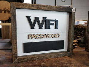 Framed WiFi Password Sign Logo Design