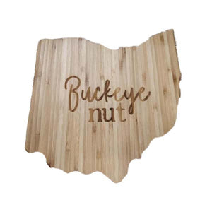 Ohio Buckeye Nut Bamboo Cutting Board