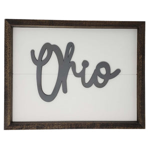 Ohio Script Farmhouse Sign