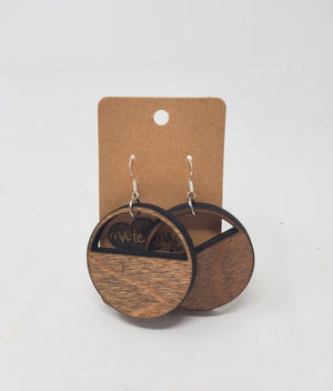 Half Moon Wood Earrings