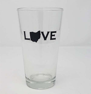 Ohio Love Pint Glass