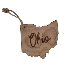 Ohio Script Ornament