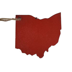 Ohio Shaped Ornament or Gift Tag