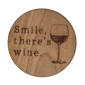 Smile There's Wine Coasters