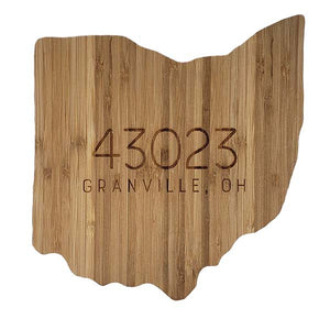 Ohio Zip Code Bamboo Cutting Board