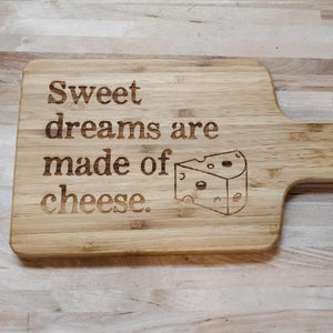 Sweet Dreams Bamboo Cheeseboard