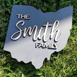 Small Ohio Family Sign