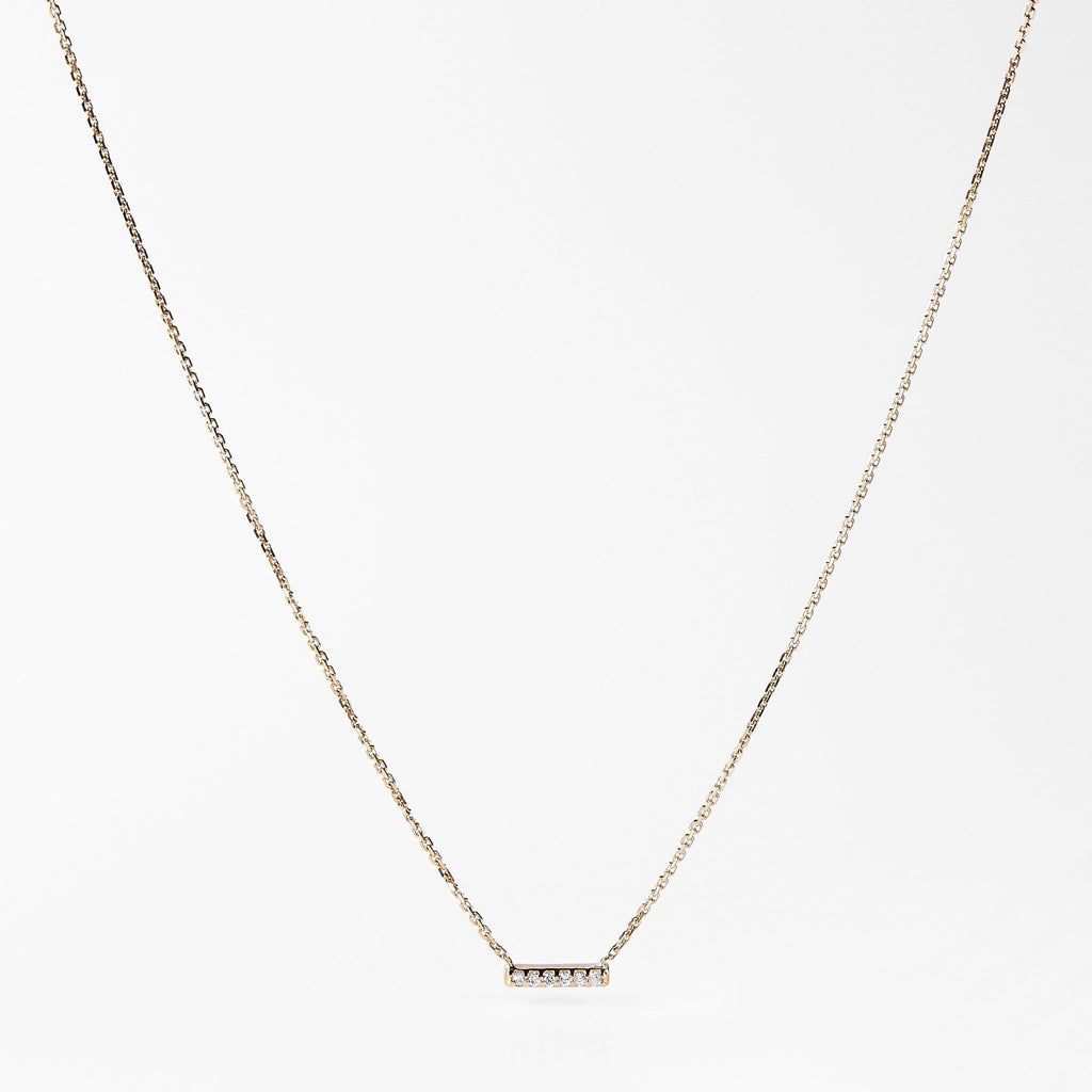 Collier or 6 diamants - LYLAN