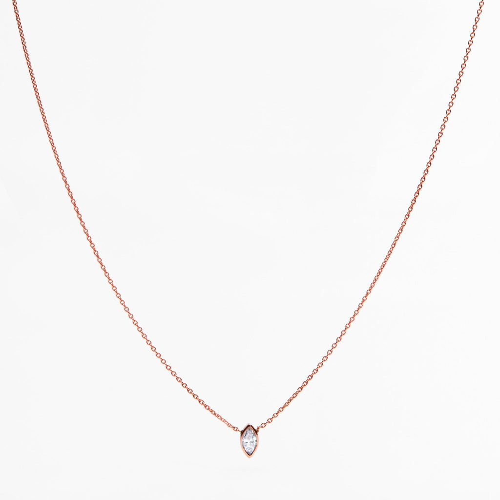 Collier or diamant marquise - LYLAN