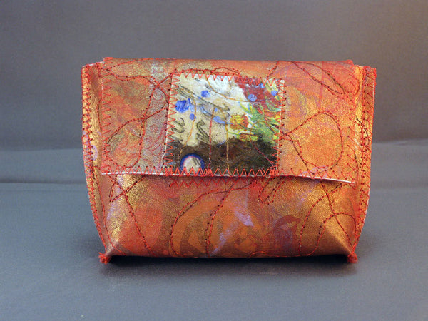 Flirty Little Wallet - Golden Red
