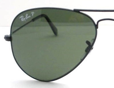 LENSES ONLY:  Ray Ban 3025 Aviator Green Polarized