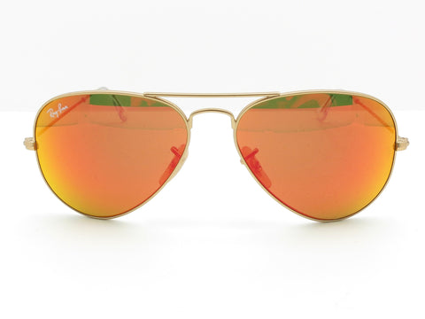Ray Ban 3025 112/69 Matte Gold Orange Mirror