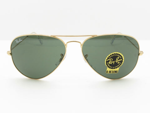 Ray Ban RB 3025 L0205 Gold G15 Aviator