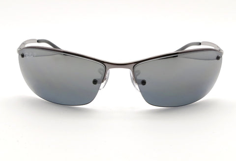 Ray Ban RB 3183 004/82 Gunmetal Polarized Mirrror