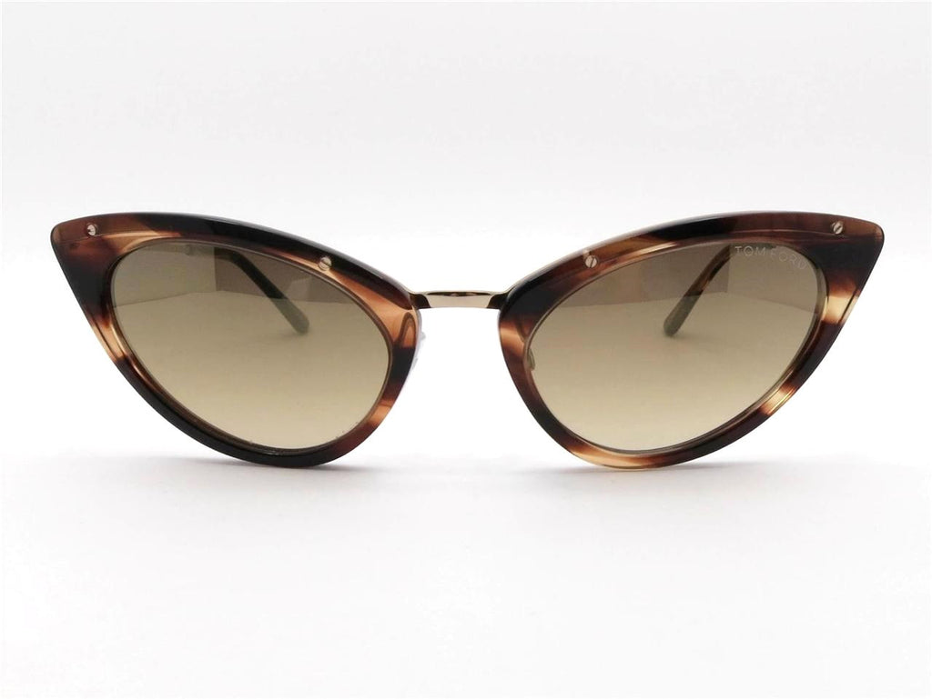 ea2a7d554e53 Tom Ford TF 349 Grace 47G Havana Gold Mirror Gradient