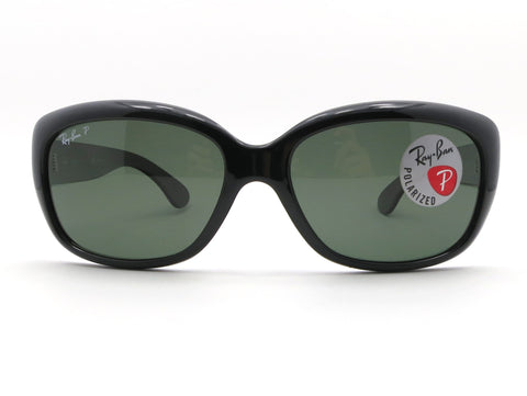 Ray Ban 4101 Jackie Ohh 601/58 Black Polarized Green