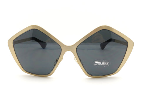 Miu Miu SMU 53N JAZ-1A1 Brushed Gold