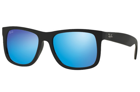 Ray Ban 4165 622/55 Black Rubber Blue Mirror