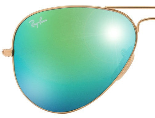 a8c594458d LENSES ONLY  Ray Ban Aviator 3025 112 19 Green Mirror