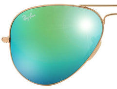 LENSES ONLY:  Ray Ban Aviator 3025 112/19 Green Mirror