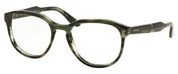 PRADA 18S UEP-1O1 Striped Gray Green