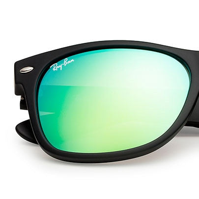 LENSES ONLY:  Ray Ban Replacement Lenses Wayfarer 2132 622/19 Green Mirror