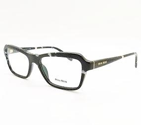 MIU MIU 02N PC7-1O1 BLACK WHITE