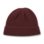 Cotton Cashmere Knit Cap BURGANDY