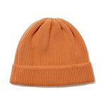 Cotton Cashmere Knit Cap Orange