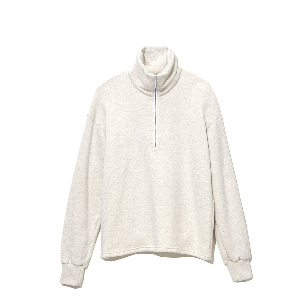 Half Zip Turtle Neck Cut-Sewn IVORY