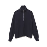 Half Zip Turtle Neck Cut-Sewn / NAVY