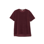 Velour T-shirt BURGUNDY