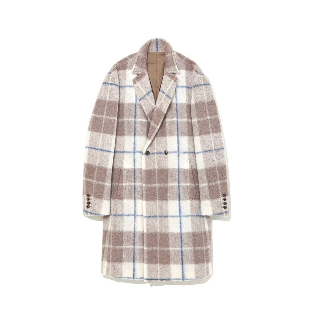 Plaid Coat BEIGE