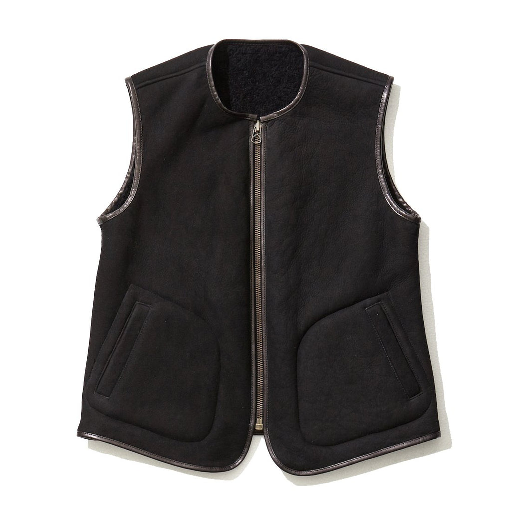 Reversible Mouton Vest / BLACK
