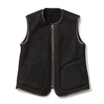 Reversible Mouton Vest BLACK