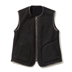 Reversible Mouton Vest / BLACK (19A-NSA-JK-18)