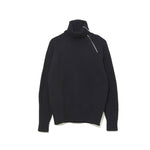 Zip-up Turtle Neck Knit BLACK