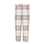 Plaid Pants BEIGE