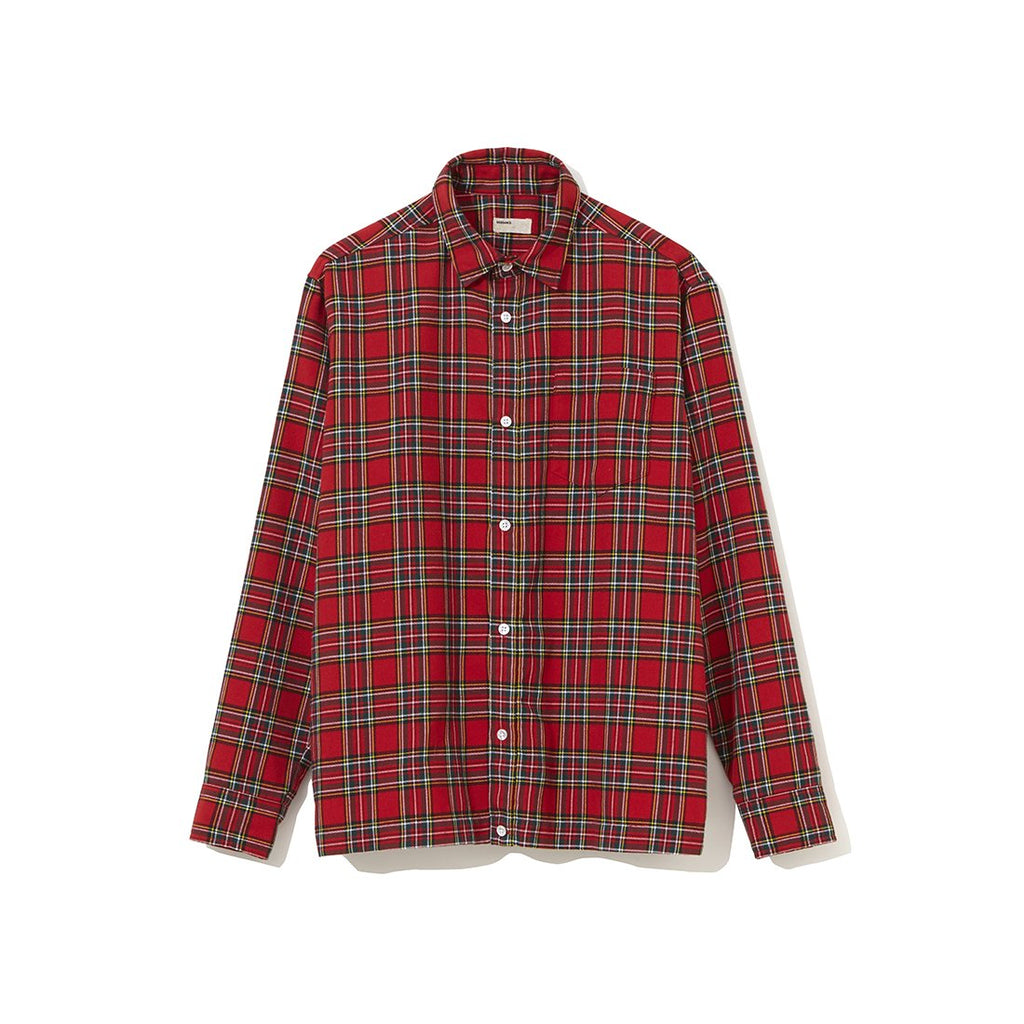 Backside Gathered Shirt RED