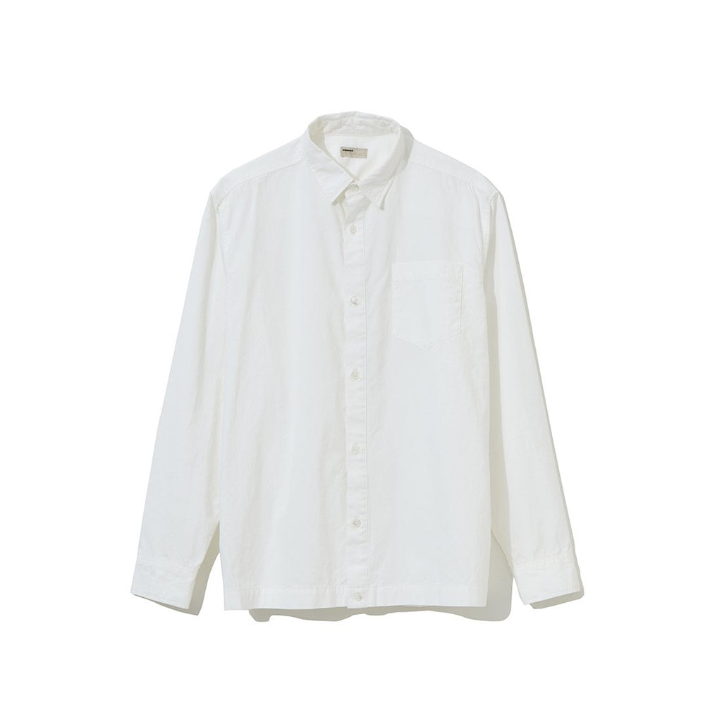 Backside Gathered Shirt WHITE