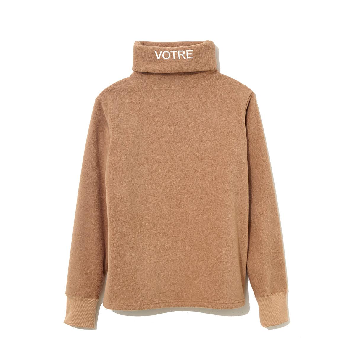 Graphic Turtle Neck Cut-Sewn  / BEIGE