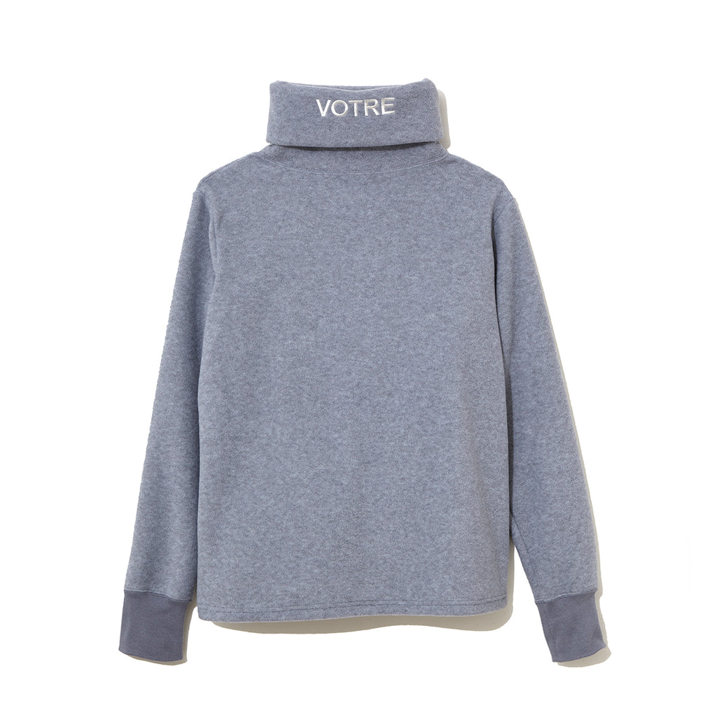 Graphic Turtle Neck Cut-Sewn  / GRAY