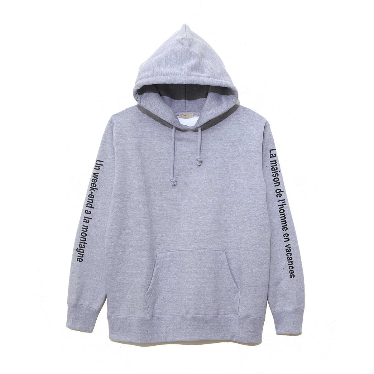 Graphic Sweat Parka / GRAY