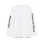 Graphic Long Sleeve T-Shirt / WHITE