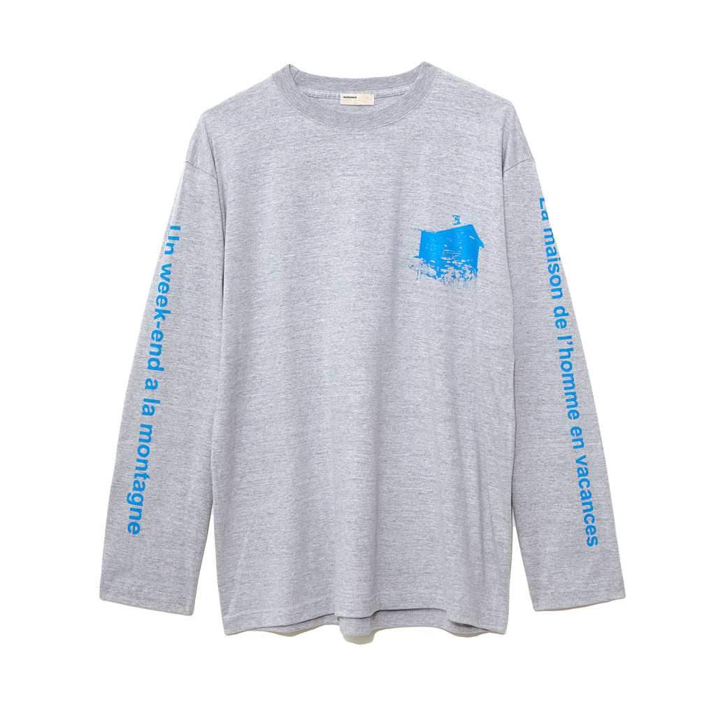 Graphic Long Sleeve T-Shirt B / GRAY