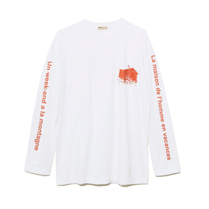 Graphic Long Sleeve T-Shirt B / WHITE