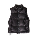 Leather Down Vest / BLACK