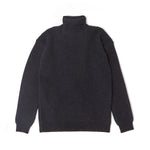 Rib Turtle Neck Knit / BLACK