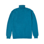 Rib Turtle Neck Knit / BLUE